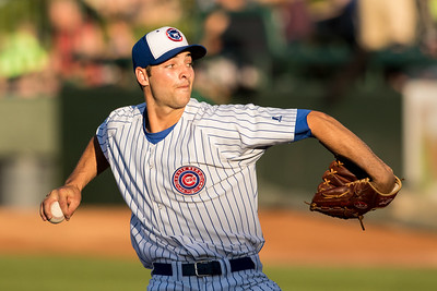 Jake Stinnett piches for the South Bend Cubs on July 22, 2015