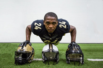 Frankie Williams poses during the Purdue Football media day on August 9, 2015