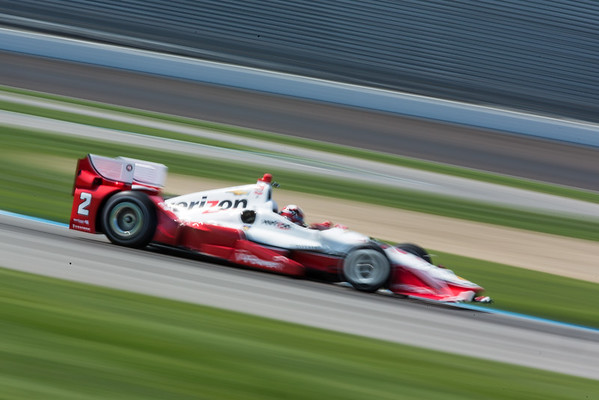Juan Pablo Montoya on the track for the 2015 Angie's List Grand Prix of Indianapolis at the Indianapolis Motor Speedway