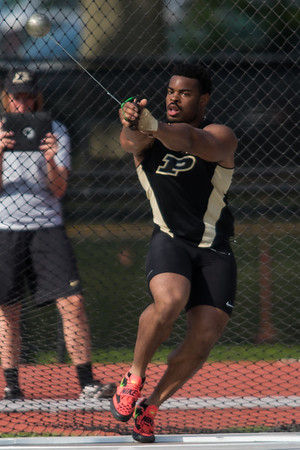 Chukwuebuka Enekwechi breaks the Purdue University record in the hammer throw