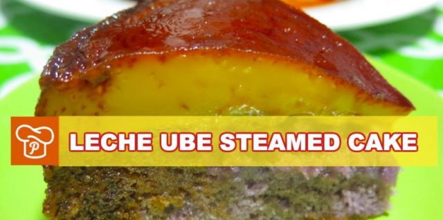 Leche Ube Steamed Cake Recipe
