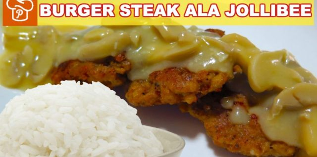 Jollibee Burger Steak Recipe