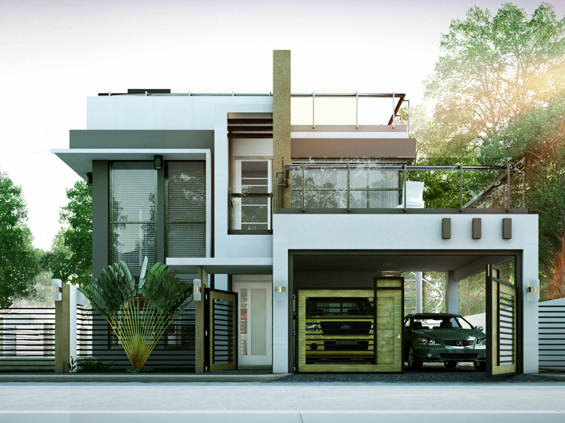 Modern House Designs Series: MHD-2014010   Pinoy ePlans on Modern Style Houses  id=56454