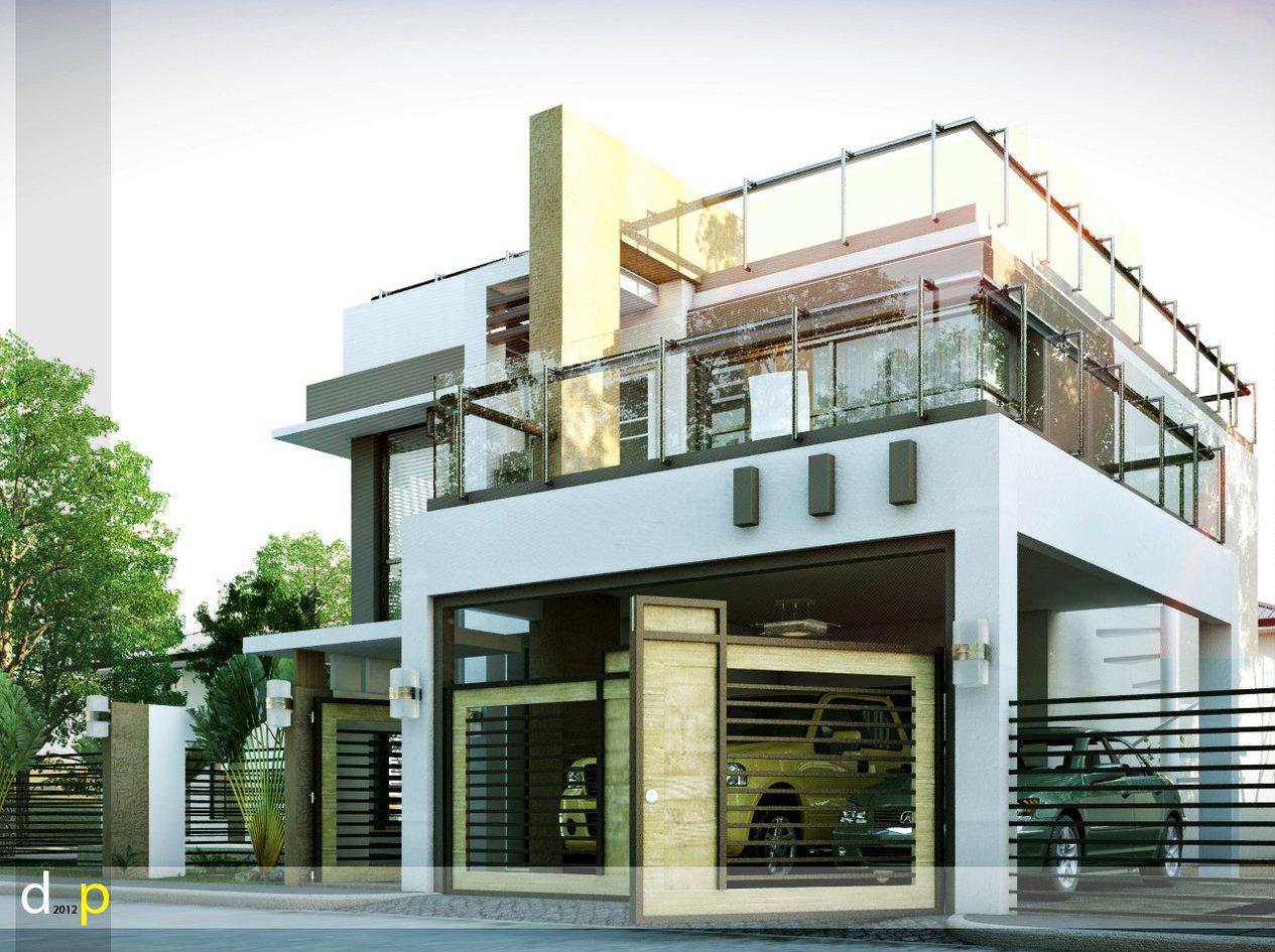 Best Kitchen Gallery: Modern House Design Corner Lot of Modern Corner Lot House on rachelxblog.com