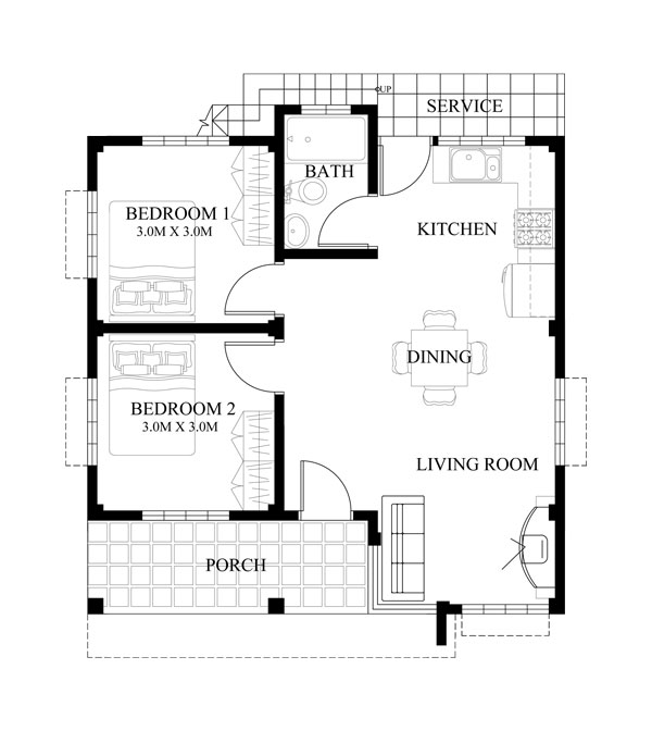 Small House Design 2015016 Floor Plan