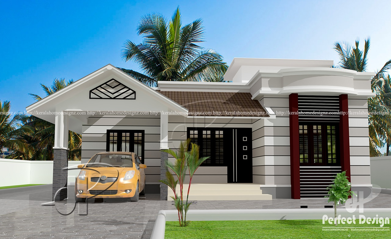 Gorgeous one story house with roof deck pinoy eplans for House plans with decks
