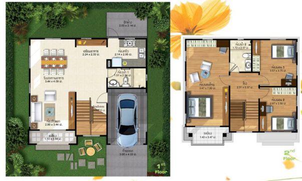 4 Bedroom House Plans Open Floor Simple Layout