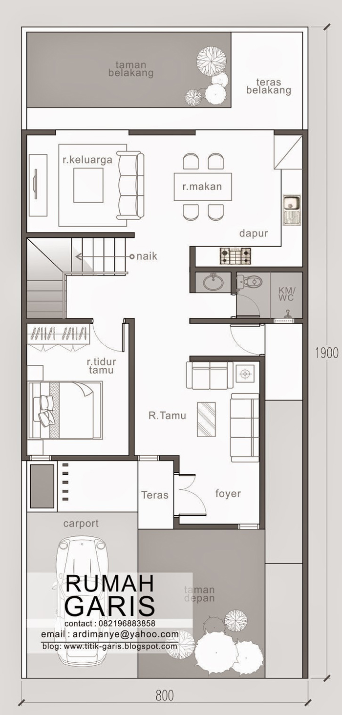 two story narrow lot house plan