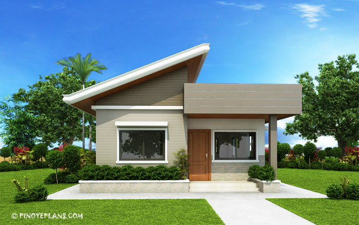 Two bedroom small house design shd 2017030 pinoy eplans for Eplans contemporary house plans