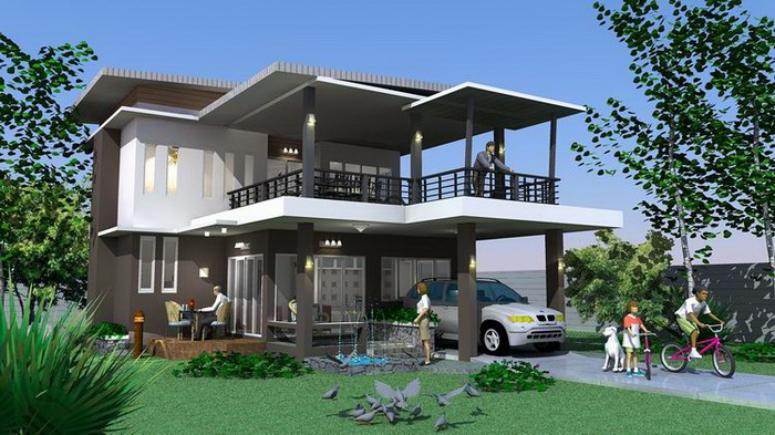 This modern home is very spacious. [Image Credit: Naibann]