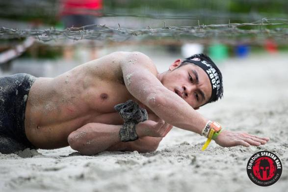 Zherwin Abanador doing the Spartan Race back in Singapore
