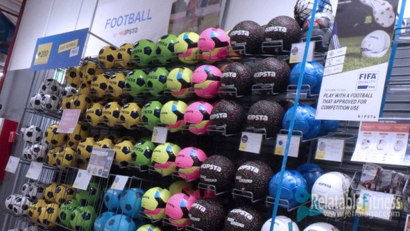Decathlon Philippines football balls.