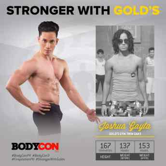 golds gym philippines bodycon 3 0 finals night 2017 relatable fitness josh gayta