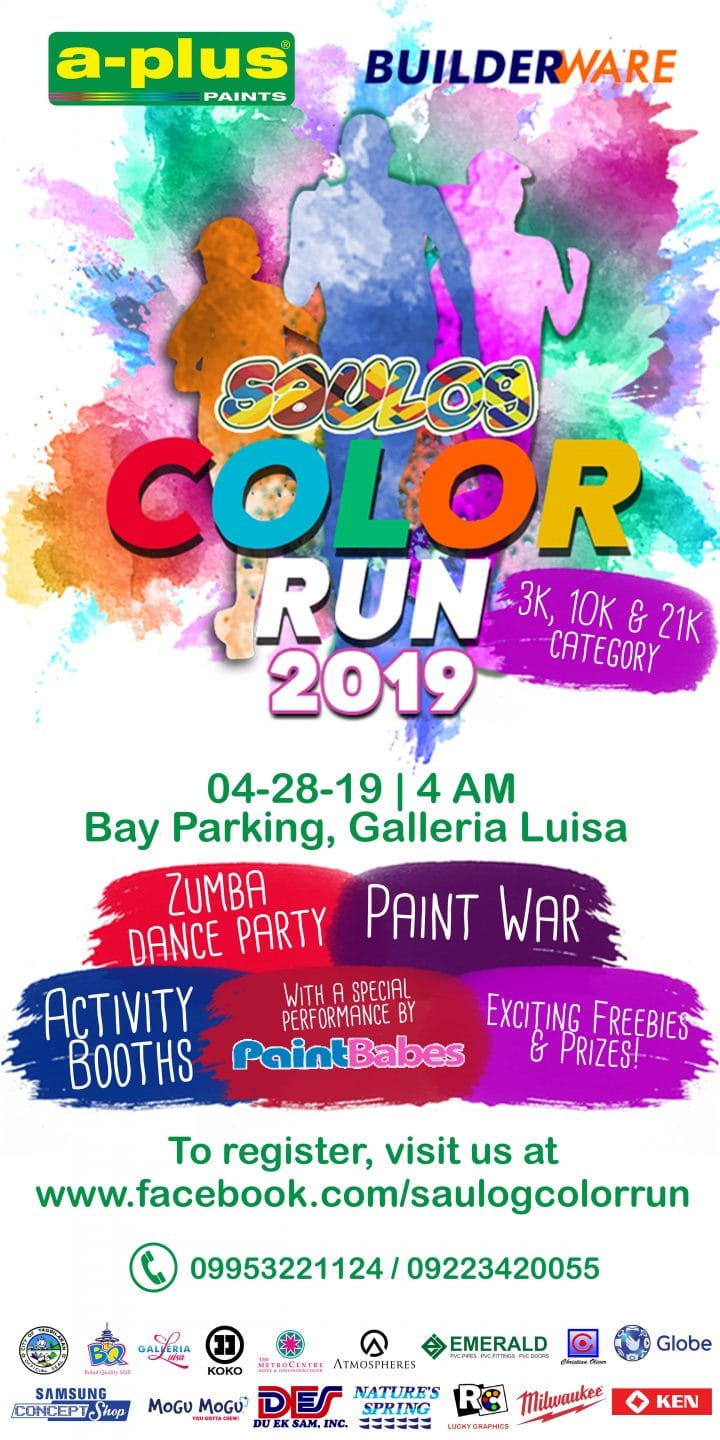 Saulog Color Run pinoy fit buddy events in bohol