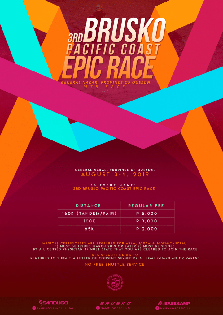3RD BRUSKO POSTER pacific coast epic race