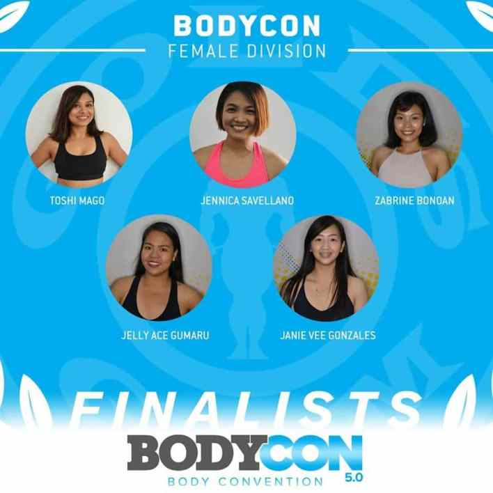 golds gym bodycon 5 finalists female