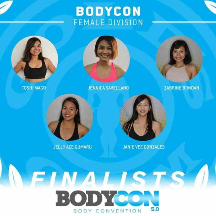 golds gym bodycon 5 finalists female