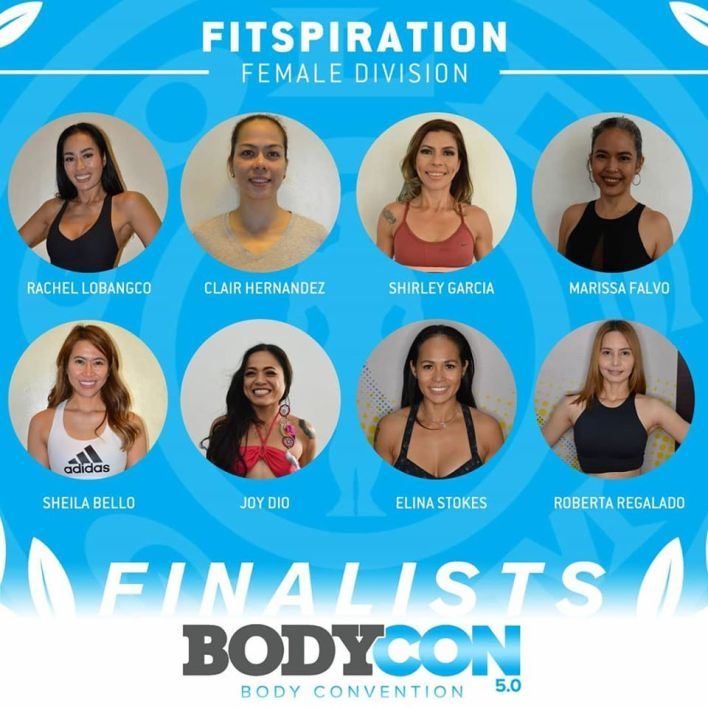 golds gym bodycon 5 finalists fitspiration female