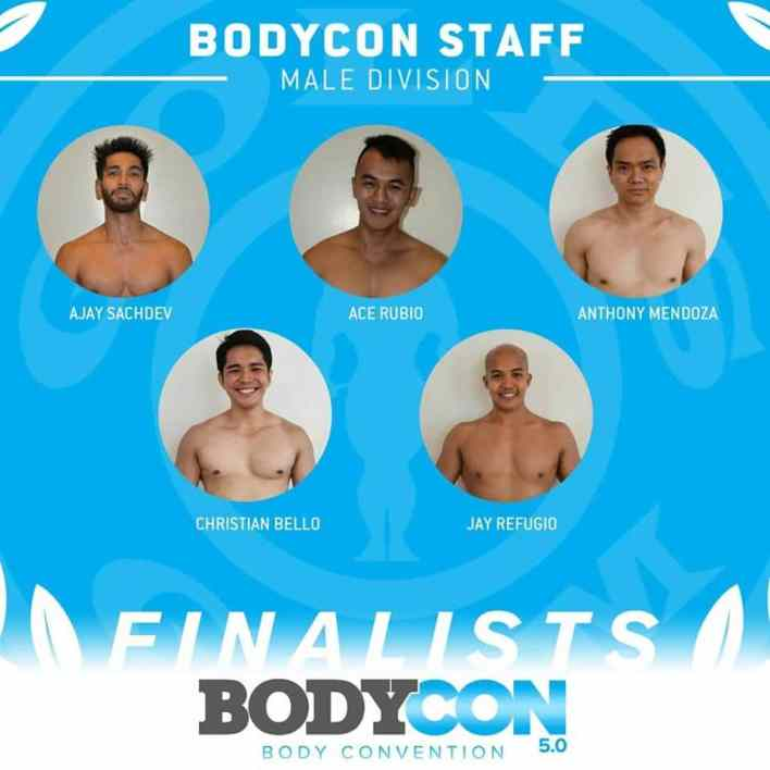 golds gym bodycon 5 finalists staff male 2