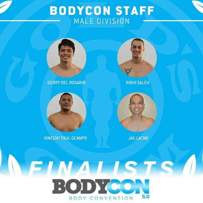 golds gym bodycon 5 finalists staff male