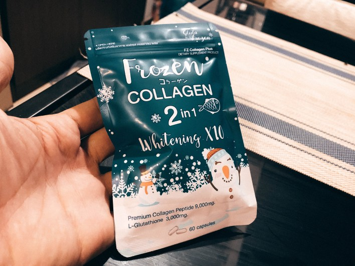 Frozen collagen review photo at the front pack from Pinoy Fit Buddy