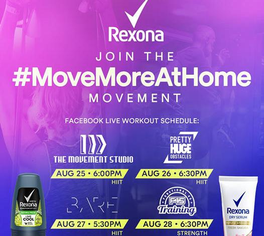 rexona move more at home movement facebook live workouts august pinoy fitness philippines