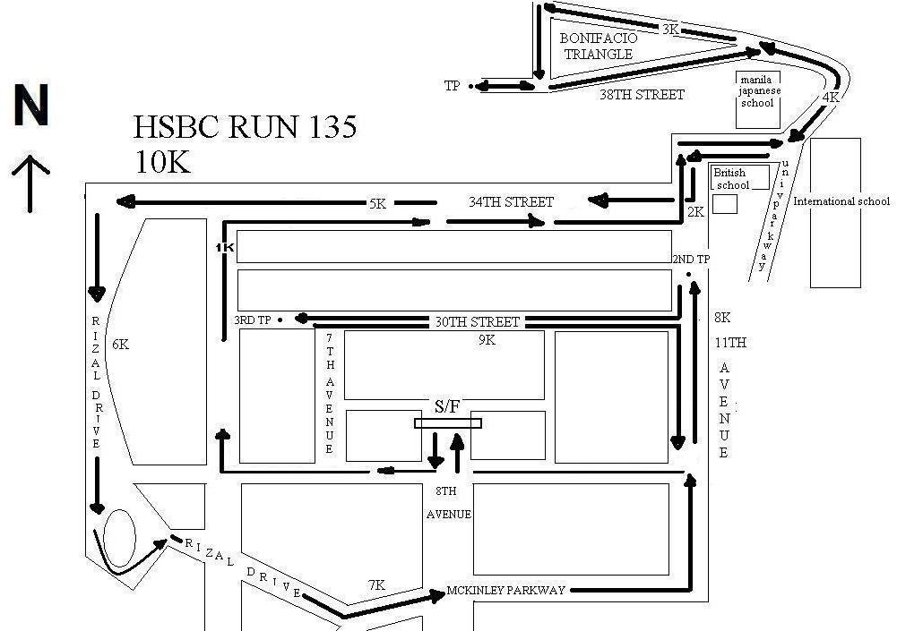 HSBC 135 RUN 10K MAP