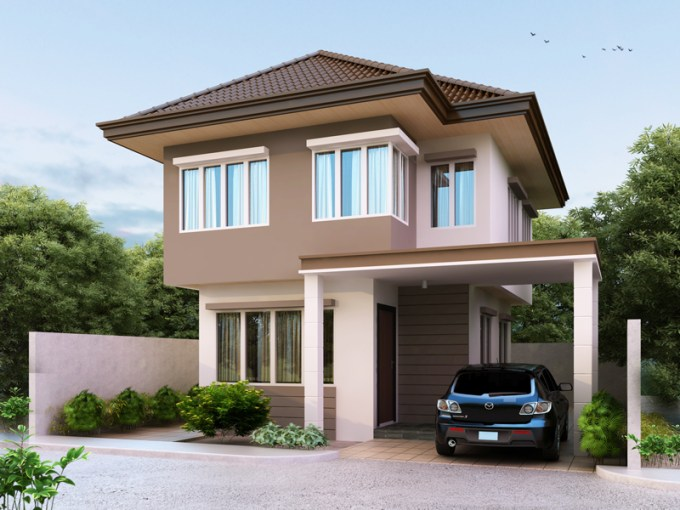 Two Story House Plans Series  PHP 2014003 pinoy houseplans 2014003 perspective