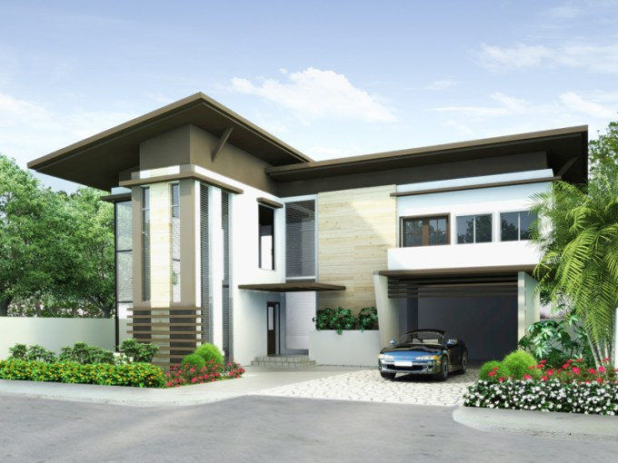 Modern House Plans Series   PHP 2014009 modern house plans PHP2014009 perspective