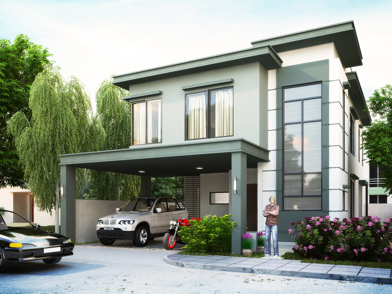 Two Story House Plans Series   PHP 2014007 SECOND FLOOR PLAN  two story house plans PHP2014007 perspective