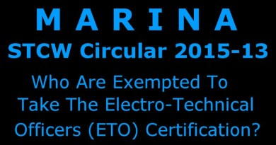 Who Are Exempted To Take ETO Certification In MARINA