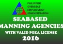 Seabased Manning Agencies With Valid POEA License – 2016