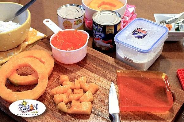 Buko Melon Salad Ingredients