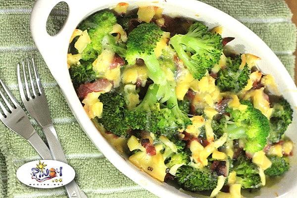 Healthy Broccoli Cheese Bake