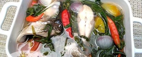 Sinigang na Bangus at Talbos ng Kamote Recipe