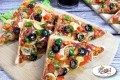 Bacon and Mushroom Bread Pizza Recipe