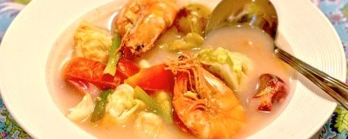 Shrimp Sinigang with Cabbage Recipe