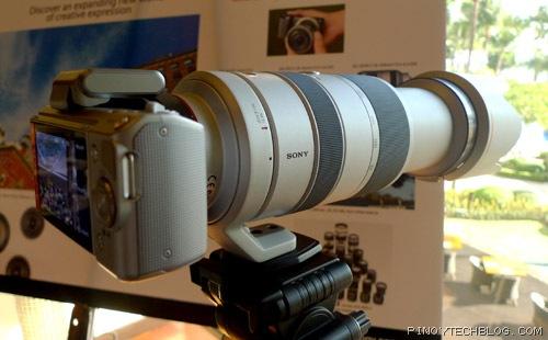 Sony Alpha NEX-5 with Alpha super-zoom lens
