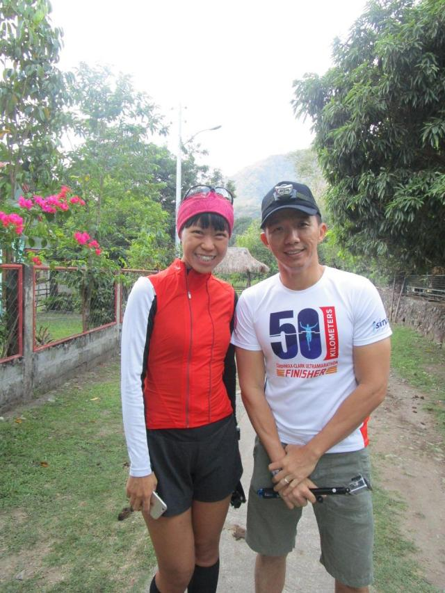 With XinYan Wu, a Singaporean. Her partner Greg Playfoot was competing in Vertical KM run that morning
