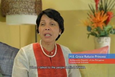 Ambassador Grace Princesa encourages overseas Filipinos in UAE