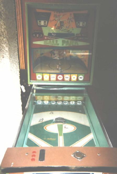 1968 Williams Ball Park Baseball Arcade Pinball Game