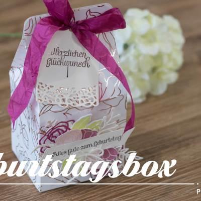 Geburtstagsbox mit Sale-a-bration-Prämien
