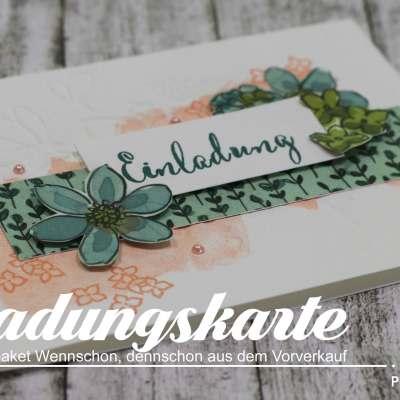 Einladungskarte mit dem Vorverkaufs-Produktpaket Wennschon, dennschon