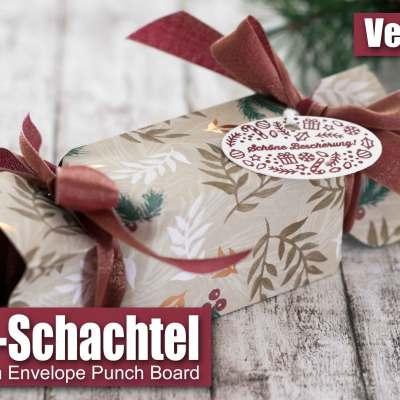 Bonbon-Schachtel mit dem Envelope Punch Board