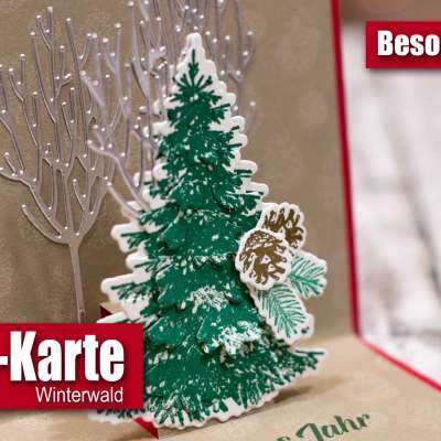 Pop-up-Karte Winterwald