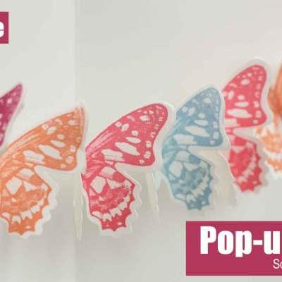 Eine Schmetterlingsgirlande als Pop-up