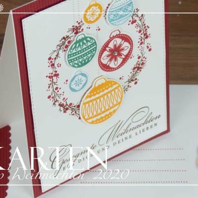 12 Karten Weihnachten #3 – Weihnachtliche Grüße & Ornamental Envelopes