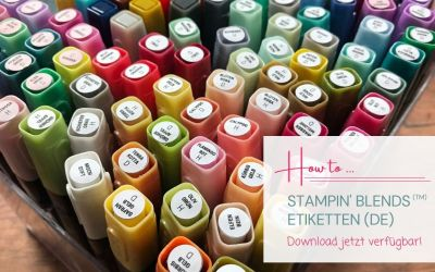 Etiketten für die Stampin' Blends (TM)