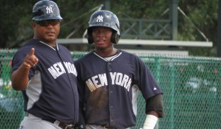 Julio Mosquera managing the GCL Yankees 1 in 2015