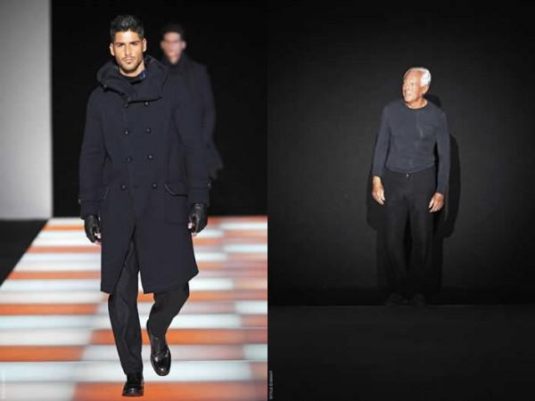 Giorgio Armani Menswear Fall Winter 2012 collection